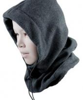 Zwarte fleece bivak voor kinderen