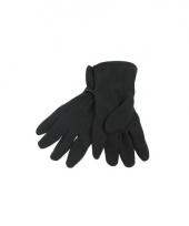 Zwarte fleece handschoenen voor dames en heren