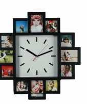 Zwarte fotolijst frames met klok
