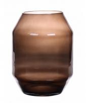 Zwarte glazen vazen 33 cm