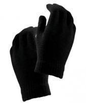 Zwarte handschoenen voor kinderen