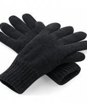 Zwarte heren handschoenen
