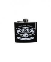 Zwarte heupfles bourbon 150 ml
