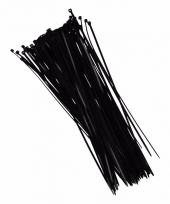 Zwarte kabelbinders 28 cm 100 stuks