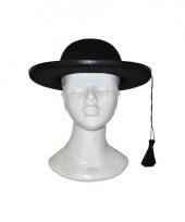 Zwarte kapelaan hoed