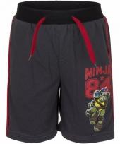 Zwarte korte broek ninja turtles
