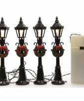 Zwarte lantaarns in kerststijl 12 cm