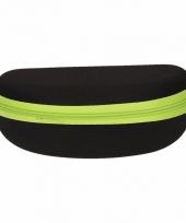 Zwarte met groene leesbrillen etui