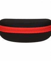 Zwarte met rode leesbrillen etui