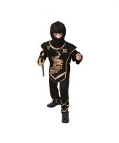 Zwarte ninja carnavalskostuum voor kids