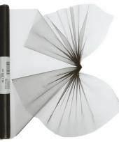 Zwarte organza op rol 40 x 200 cm