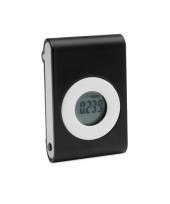 Zwarte pedometer met broekriem clip