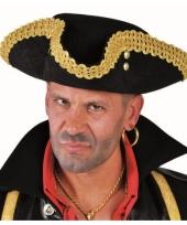 Zwarte piraat hoed deluxe