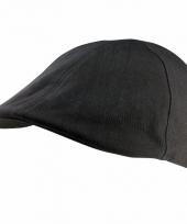Zwarte platte pet 58 cm 10089653