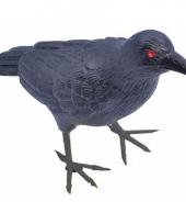 Zwarte raaf van plastic 22 cm