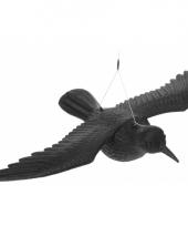 Zwarte raaf van plastic 40 cm