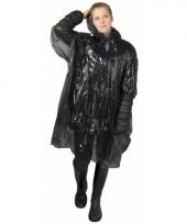Zwarte regen ponchos voor volwassenen