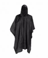Zwarte regenjas poncho voor volwassenen