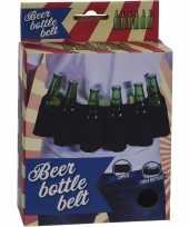 Zwarte riem voor 6 pack bierflessen