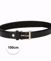 Zwarte riemen voor volwassenen 100 cm