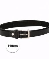 Zwarte riemen voor volwassenen 110 cm