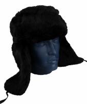 Zwarte russische bontmuts