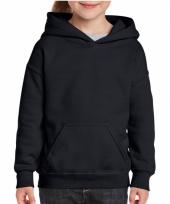 Zwarte trui met capuchon voor meiden