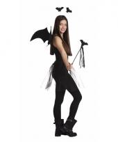 Zwarte vleermuizen verkleedkleding setje