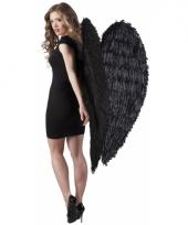 Zwarte vleugels 120 x 120 cm