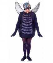 Zwarte vliegen outfit voor volwassenen