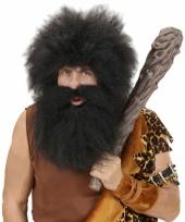 Zwarte wildemans baard met snor