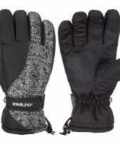 Zwarte witte starling mirre ski handschoenen taslan voor jongens meisjes