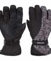 Zwarte witte starling noel ski handschoenen taslan voor jongens meisjes