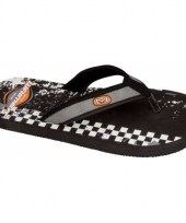 Zwarte zomer slippers