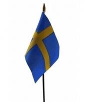 Zweden luxe zwaaivlaggetje polyester