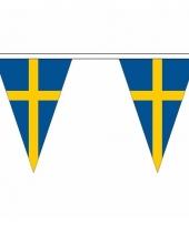 Zweden versiering vlaggenlijn 20 m