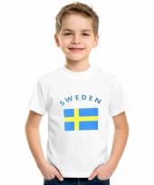 Zweeds vlaggen t-shirts voor kinderen