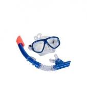 Zwem snorkelset blauw volwassenen