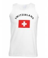 Zwitserland vlaggen tanktop t shirt